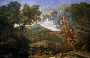 Пуссен Никола Пейзаж со слепым Орионом ищущим Восходящее Солнце