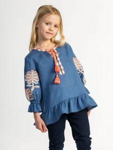 Вышиванки детские Вышиванка для девочки Blue butterfly