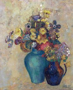 Редон Одилон Две вазы с цветами