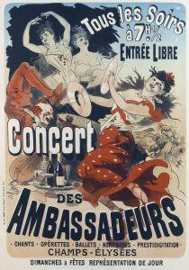 Модерн Concert des Ambassadeurs from les Maitres de l Affichе