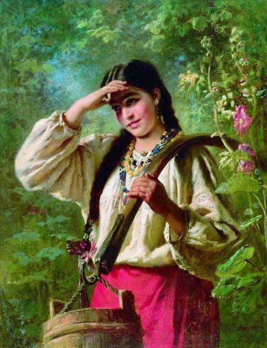 Девушка с коромыслом