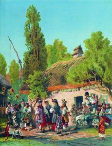 Маковський Костянтин Недільний вечір в малоросійському селі