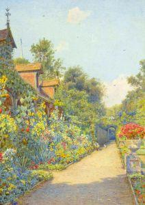 Монах в саду, Эшридж