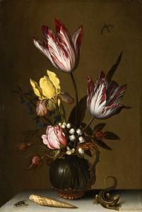 Аст Бальтазар ван дер Натюрморт в богатом стеклянном кувшине