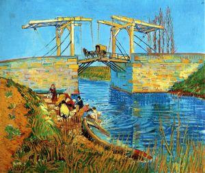 Ван Гог Винсент Стирка у моста Ланглуа в городе Арль