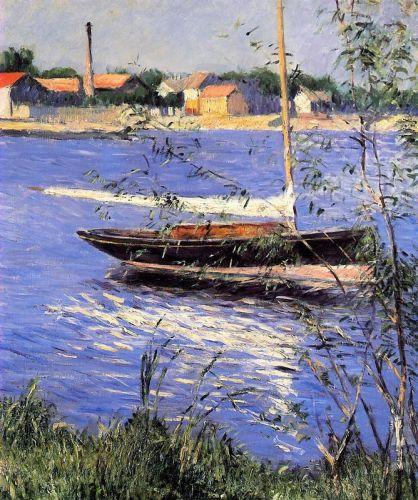 Закрепленные лодки на Сене, порт Аржантей