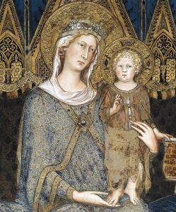 Готика Маеста, Мадонна з немовлям на троні