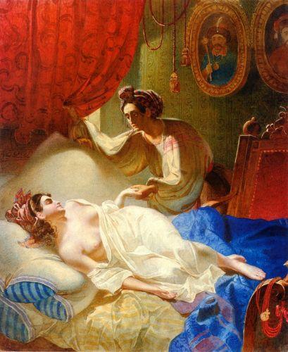 Мария. Рисунок по поэме А.С.Пушкина Полтава