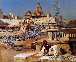 Уикс Эдвин Лорд Кормление священных голубей, Джайпур, Индия