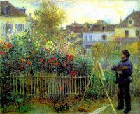 Клод Моне рисует в своём саду в Аржантее