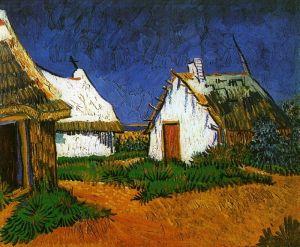 Ван Гог Винсент Три белые коттеджи в Сен-Мари