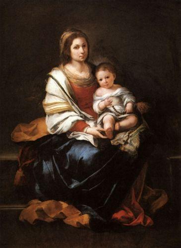 Мадонна с Младенцем и четками