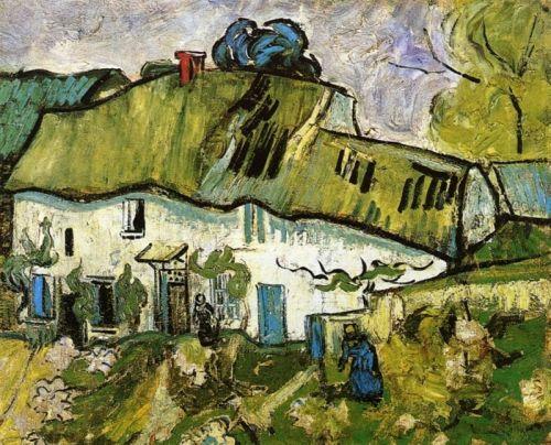 Сельский дом с двумя фигурами