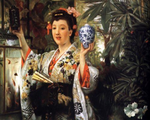 Госпожа с японскими предметами