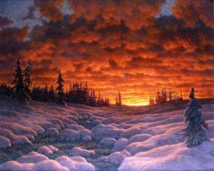 Шультце Иван Закат зимой