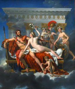 Давид Жак-Луи Марс разоруженный Венерой и три грации