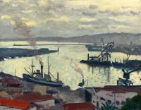 Порт в Алжире в пасмурный день