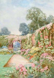 Стэннард Тереза Мальвы в саду Уоркшир
