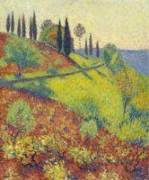 Холм в Маркероль - вид из мастерской художника