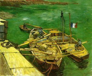 Ван Гог Винсент Разгрузка песчаных барж на набережной