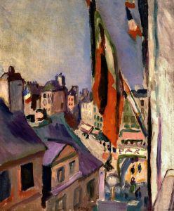 Ренуар Огюст Улица с флагами