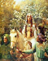Гвиневра в роли Майской королевы