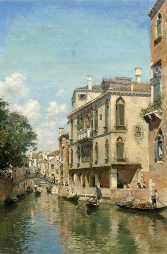 Um dia de comercio no Canal de Veneza