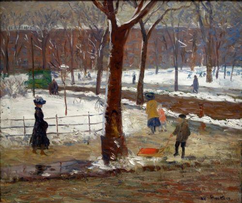 Площадь Вашингтона в зиме