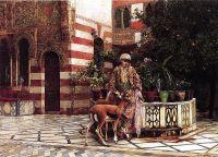 Девушка на мавританском дворике
