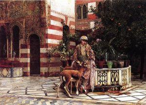 Уикс Эдвин Лорд Девушка на мавританском дворике