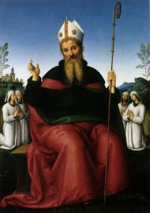 Перуджино Пьетро Св. Августин и четыре брата
