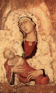 Мартини Симоне Мария с младенцем, фрагмент