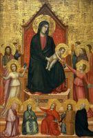 Мадонна на троне со святыми и добродетелями