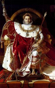 Давид Жак-Луи Наполеон на императорском троне