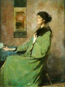Дьюинг Томас Портрет женщины