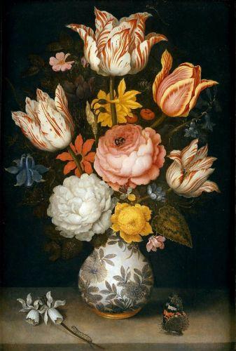 Букет цветов в китайской вазе - изображение 1
