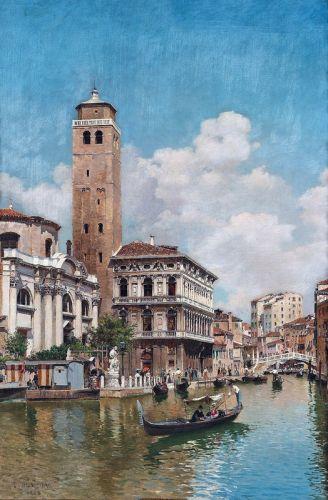 Гондолы на венецианском канале - изображение 1