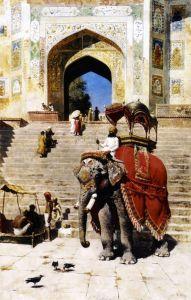 Уикс Эдвин Лорд Королевский слон в воротах Джами Масджид, Матхура
