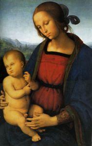 Перуджино Пьетро Мадонна с младенцем