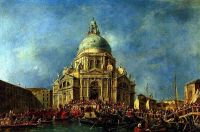 Дож Венеции прибывает 21 ноября на фейерверк в память окончания чумы 1630 г