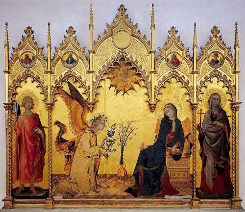 Благовещение с предстоящими святыми