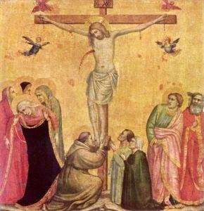 Джотто ди Бондоне Христос на Кресте между Марией и Иоанном