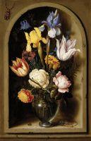 Натюрморт с цветами в нише