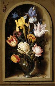 Босхарт Амброзиус Натюрморт с цветами в нише