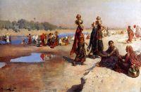 Женщины носят воду из Ганга, Индия