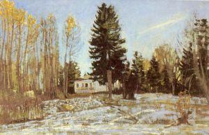 Жуковский Станислав Старая усадьба зимой