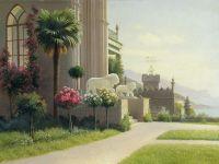 Алупка, Дворец, Терраса