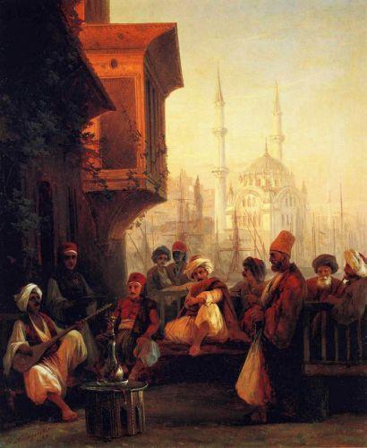 Кофейня у мечети Ортакей в Константинополе