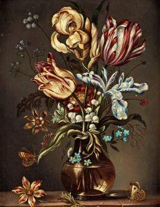 Босхарт Амброзиус Натюрморт с цветами в Ван-Ли вазе