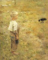 Мальчик с вороной